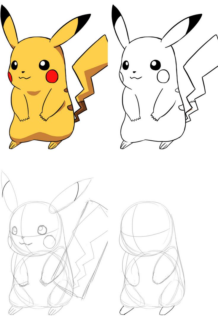Épinglé Par Shreeja Jadhav Sur Drawings | Dessin Pikachu serapportantà Dessin De Pikachu Facile
