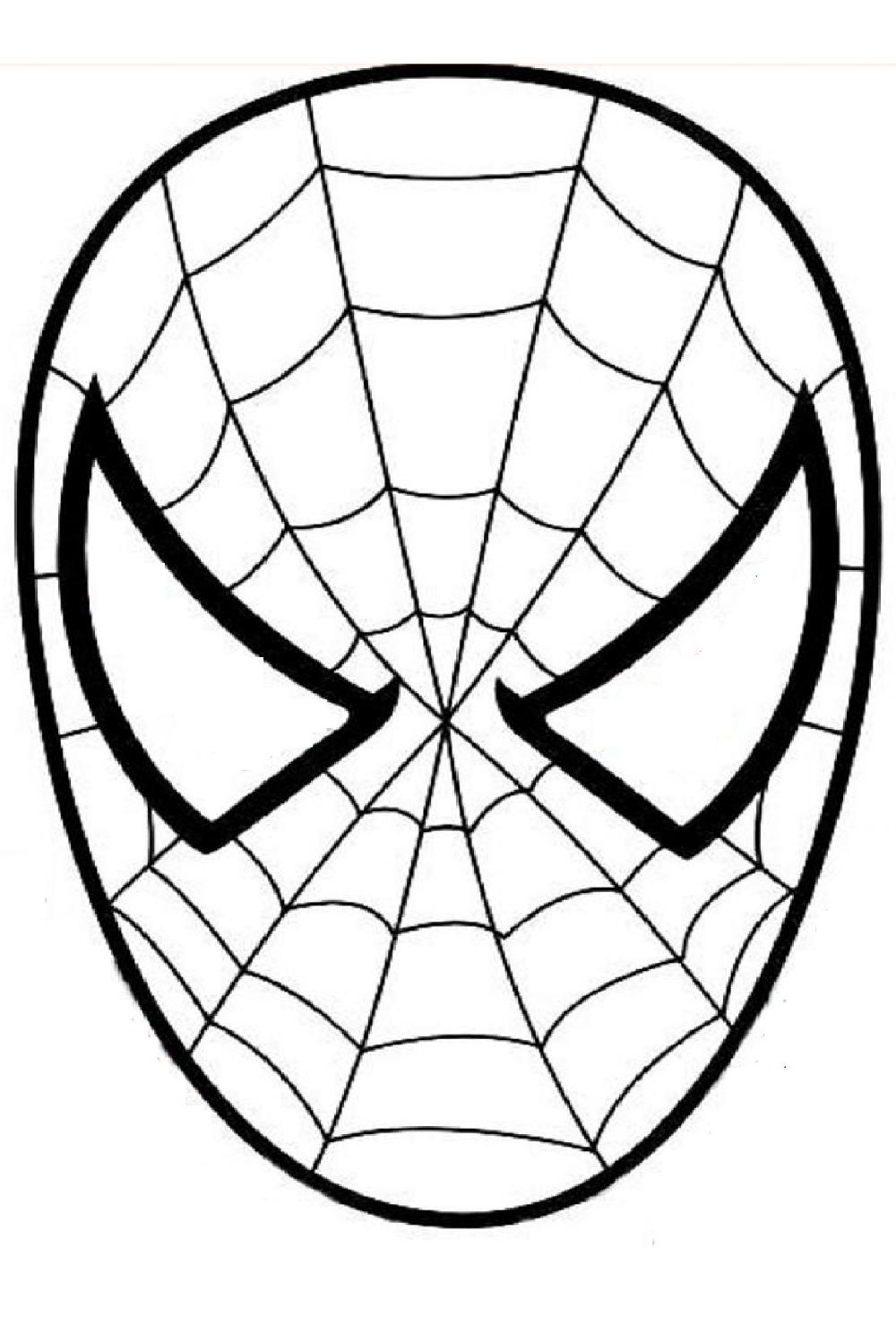 Épinglé Sur À Imprimer destiné Tete Spiderman A Imprimer