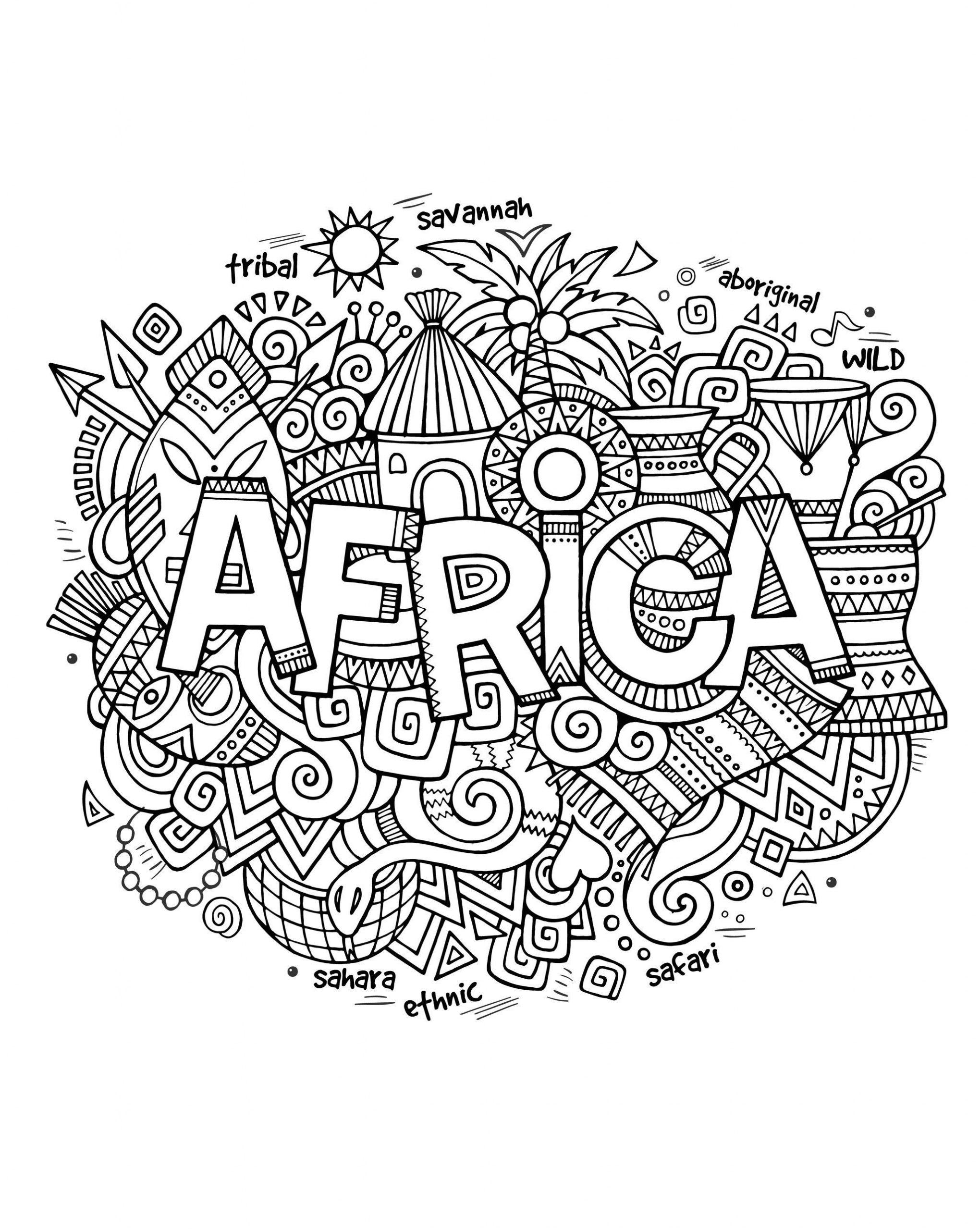 Épinglé Sur Afrique Classe avec Coloriage Afrique À Imprimer
