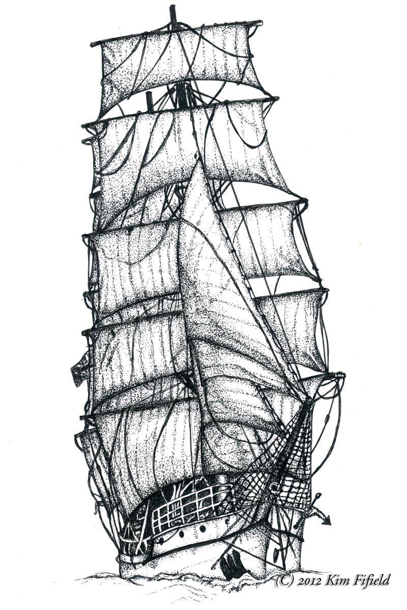 Épinglé Sur Bateaux : Voiliers , Barques , Paquebots , Etc à Paquebot Dessin