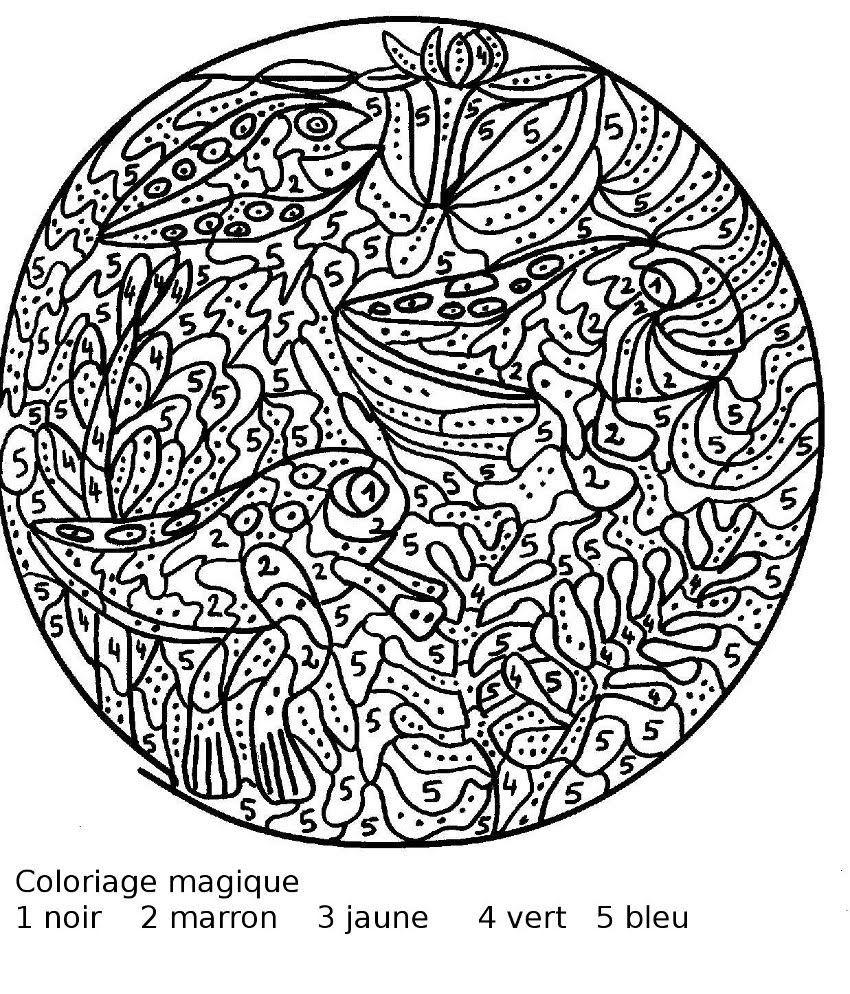 Épinglé Sur Coloriage Codé à Coloriage Magique Dur