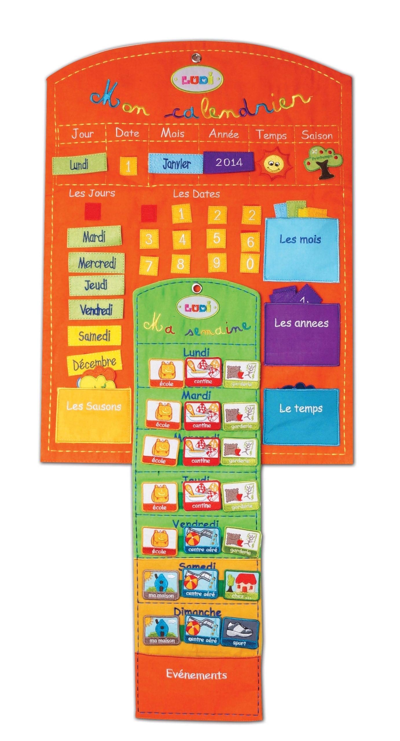 Épinglé Sur Календарь concernant Calendrier Enfant Semaine