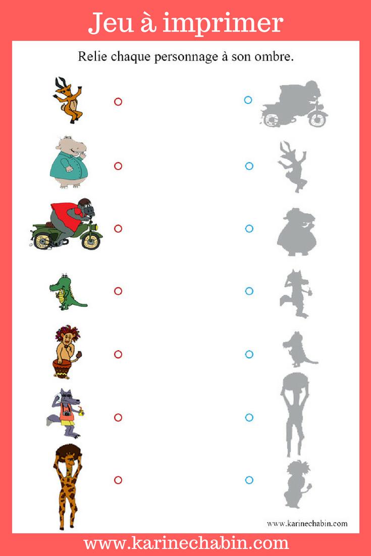 Épinglé Sur Ecole Maternelle avec Jeux Educatif 4 Ans A Imprimer