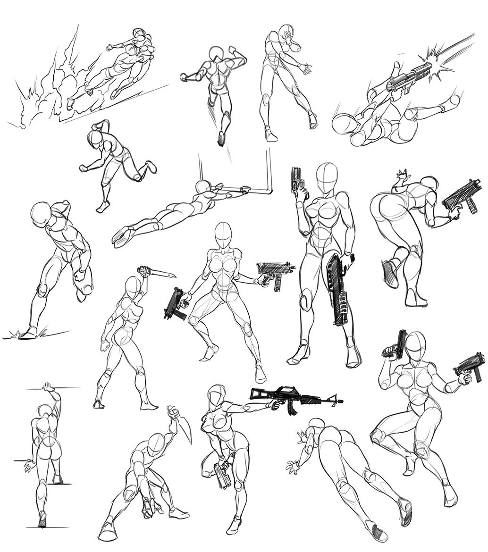 Épinglé Sur Human Draw pour Comment Dessiner Un Fusil