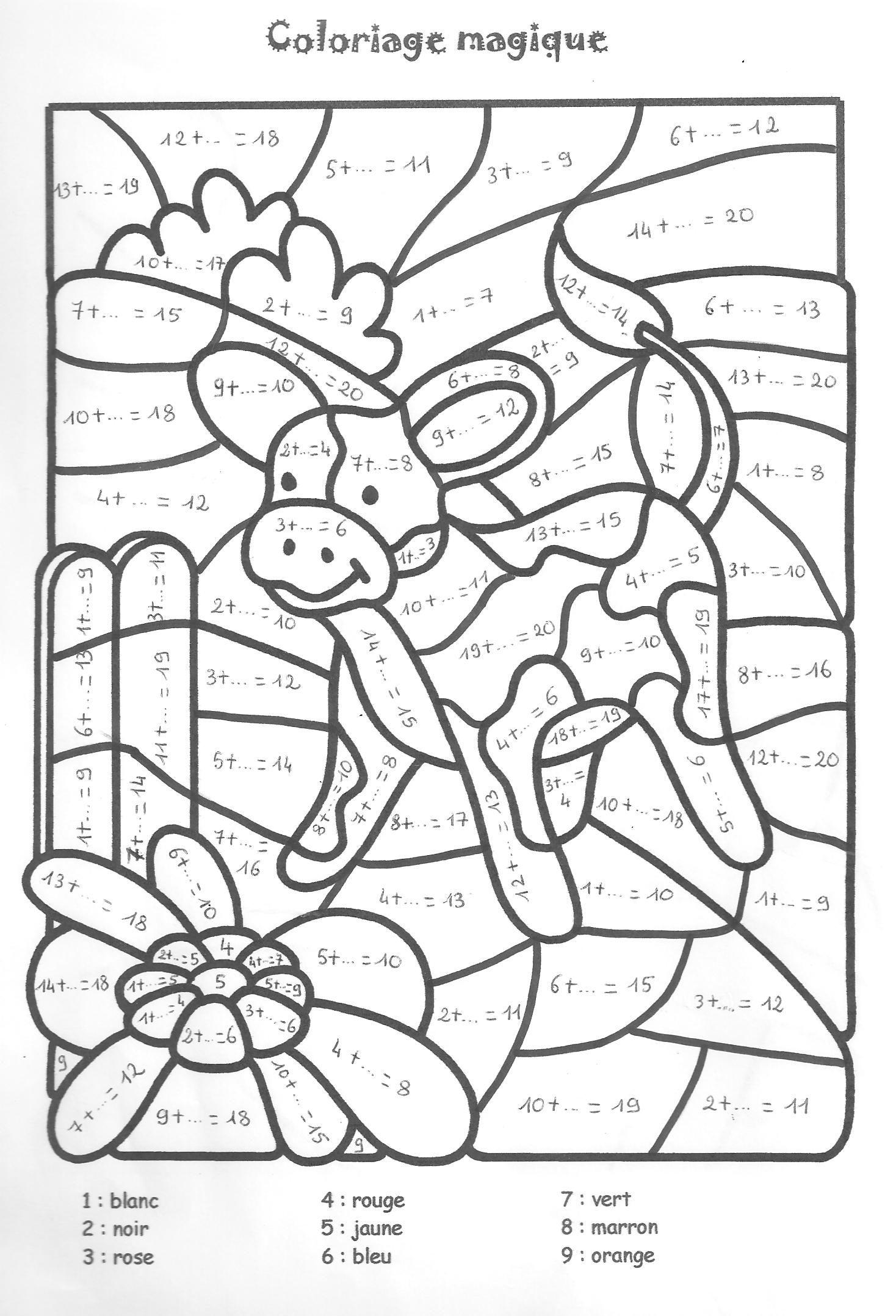 Épinglé Sur Matematika encequiconcerne Coloriage Magique Alphabet Cp