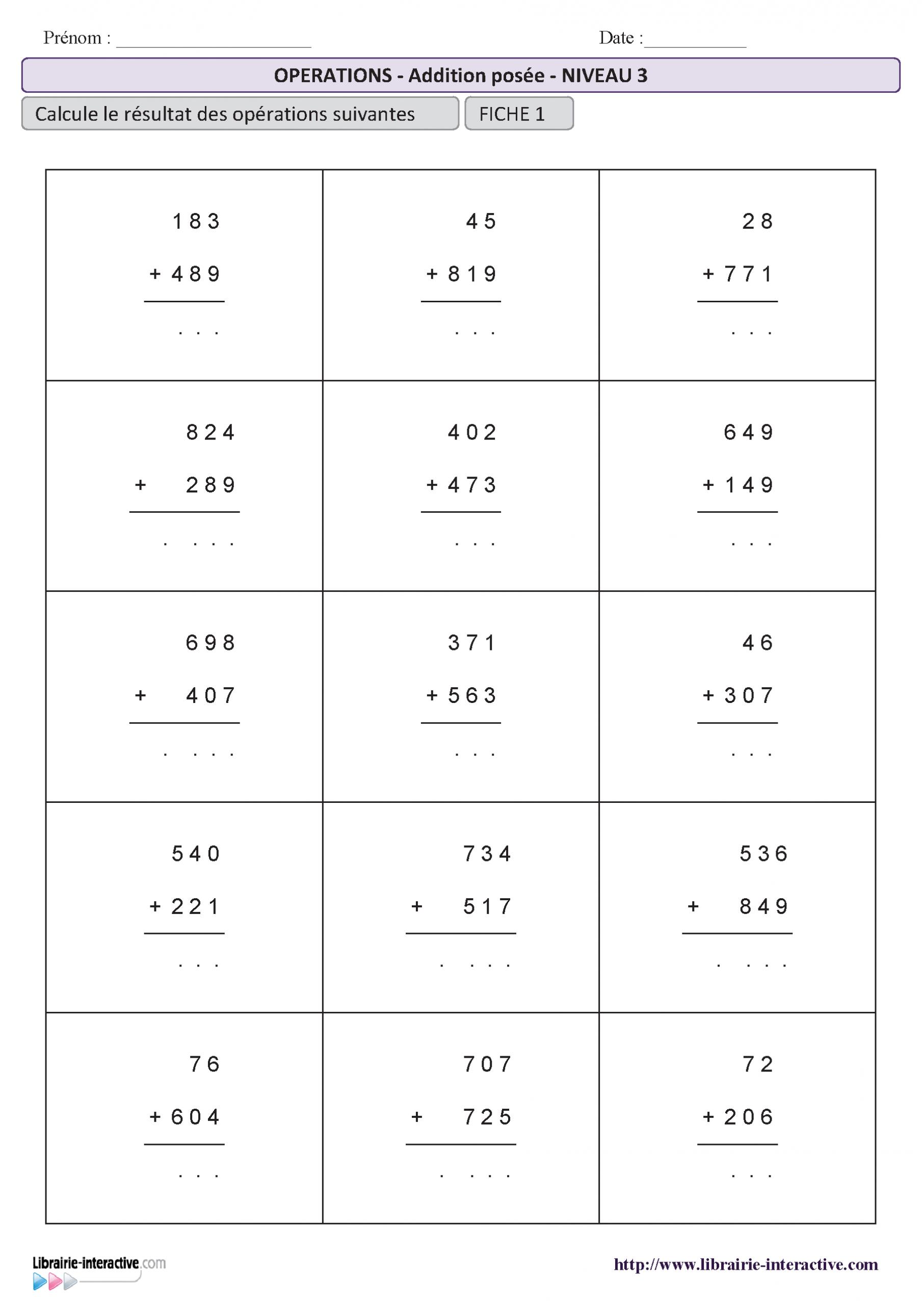 Exercices De Maths Cm1 À Imprimer Gratuit - PrimaNYC.com