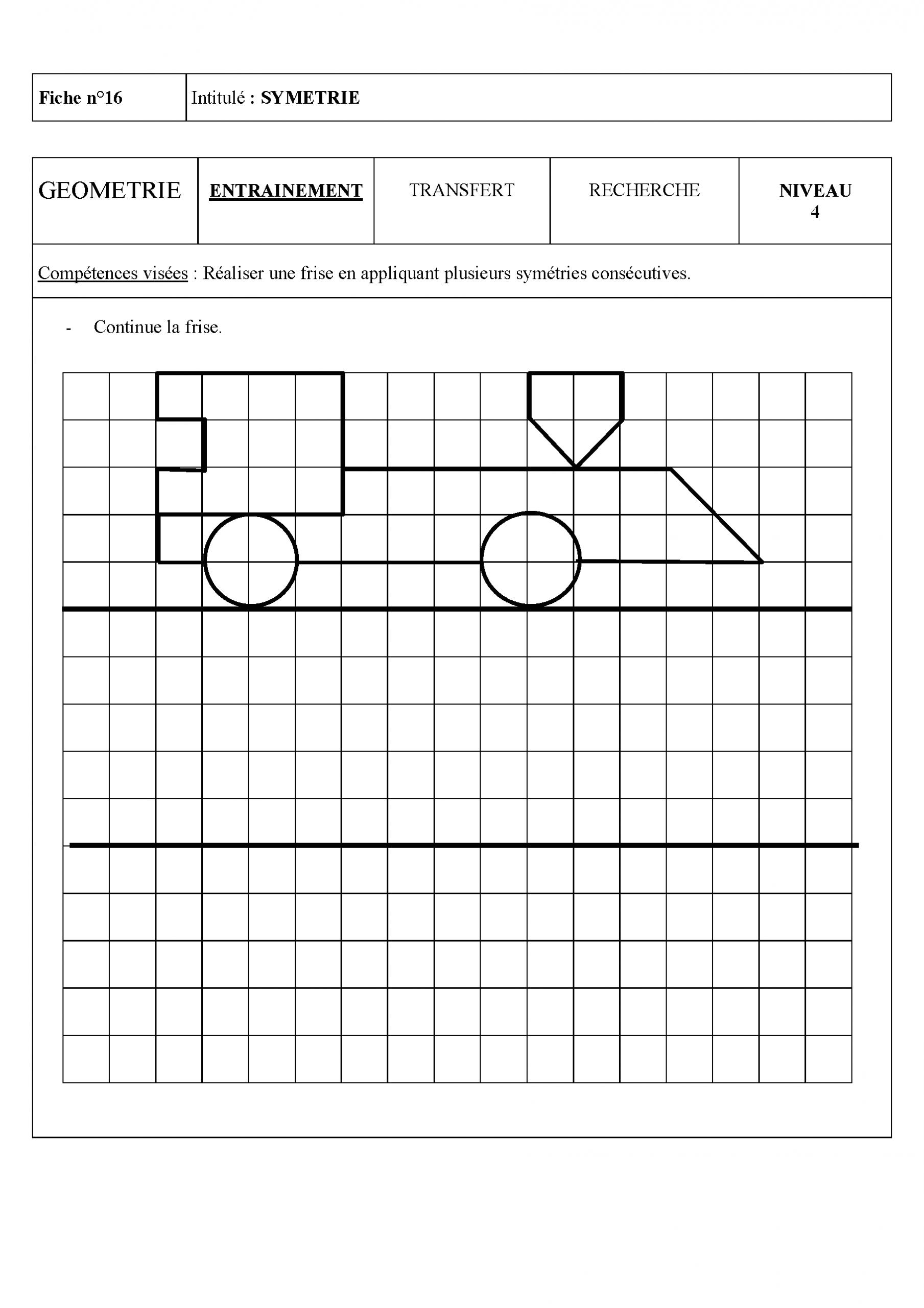 Épinglé Sur School / Ecole pour Symétrie Cm1 Exercices