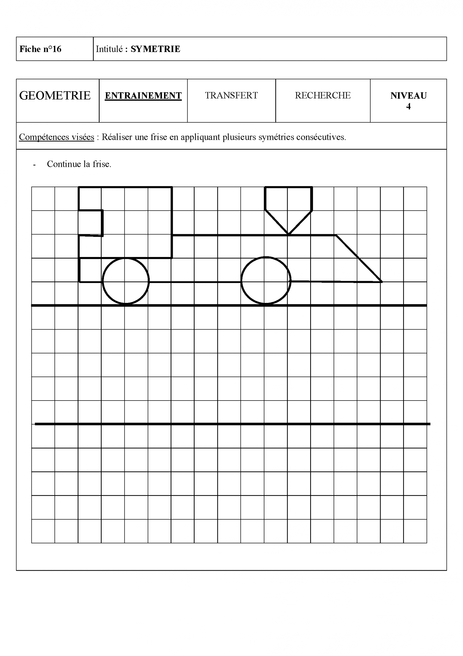 Épinglé Sur School / Ecole serapportantà Évaluation Cm1 Symétrie