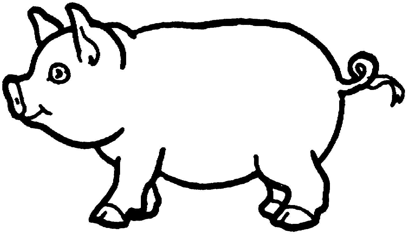 Épinglé Sur Stencils On Line encequiconcerne Dessin Cochon A Colorier