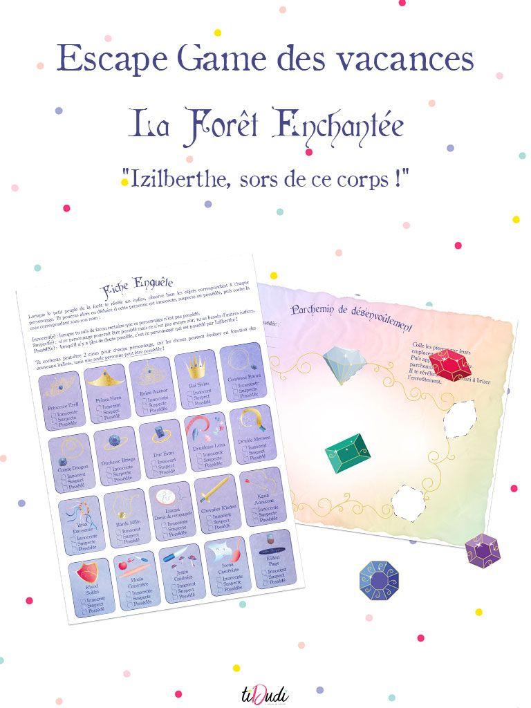 Escape Game Des Vacances - La Forêt Enchantée (Épisode 3 intérieur Jeux À Imprimer 6 Ans