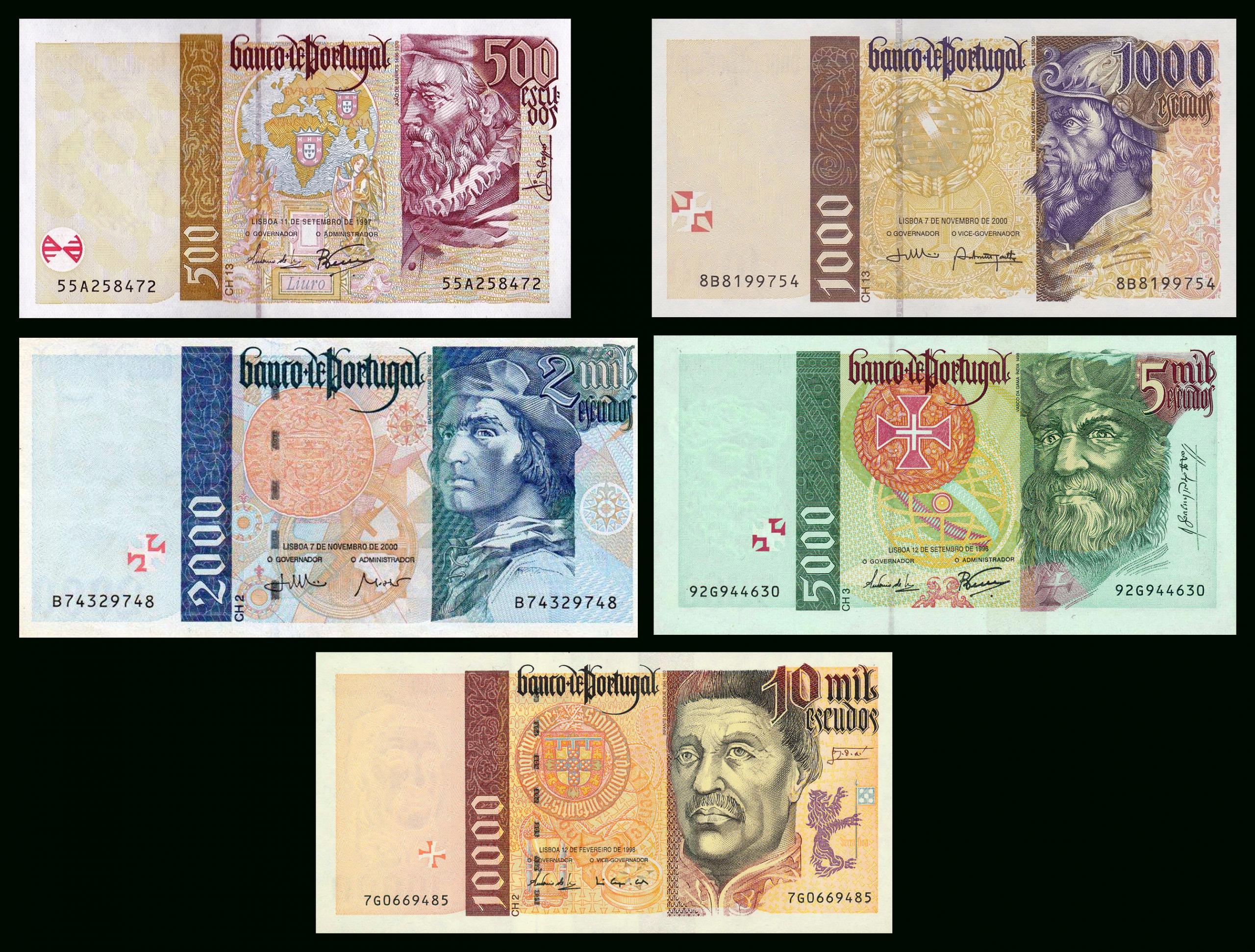 Escudo Portugais — Wikipédia tout Pieces Et Billets Euros À Imprimer