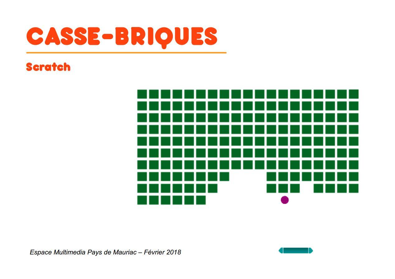 Espace Multimédia Pays De Mauriac | Scratch – Casse-Briques destiné Jeux De Casse Brique
