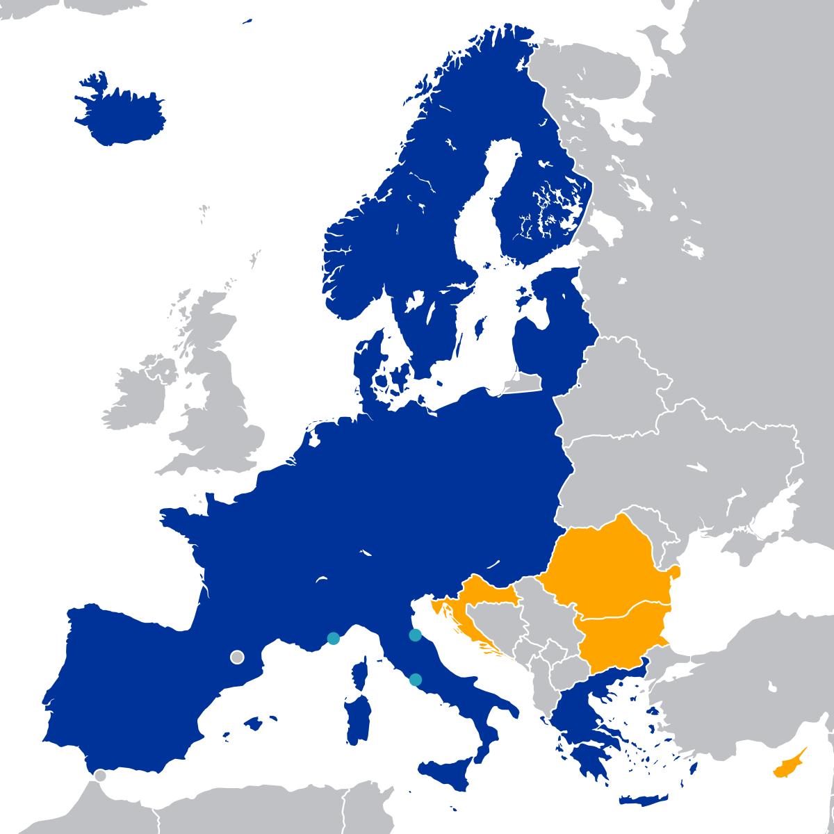 Espace Schengen — Wikipédia pour Carte Pays Union Européenne