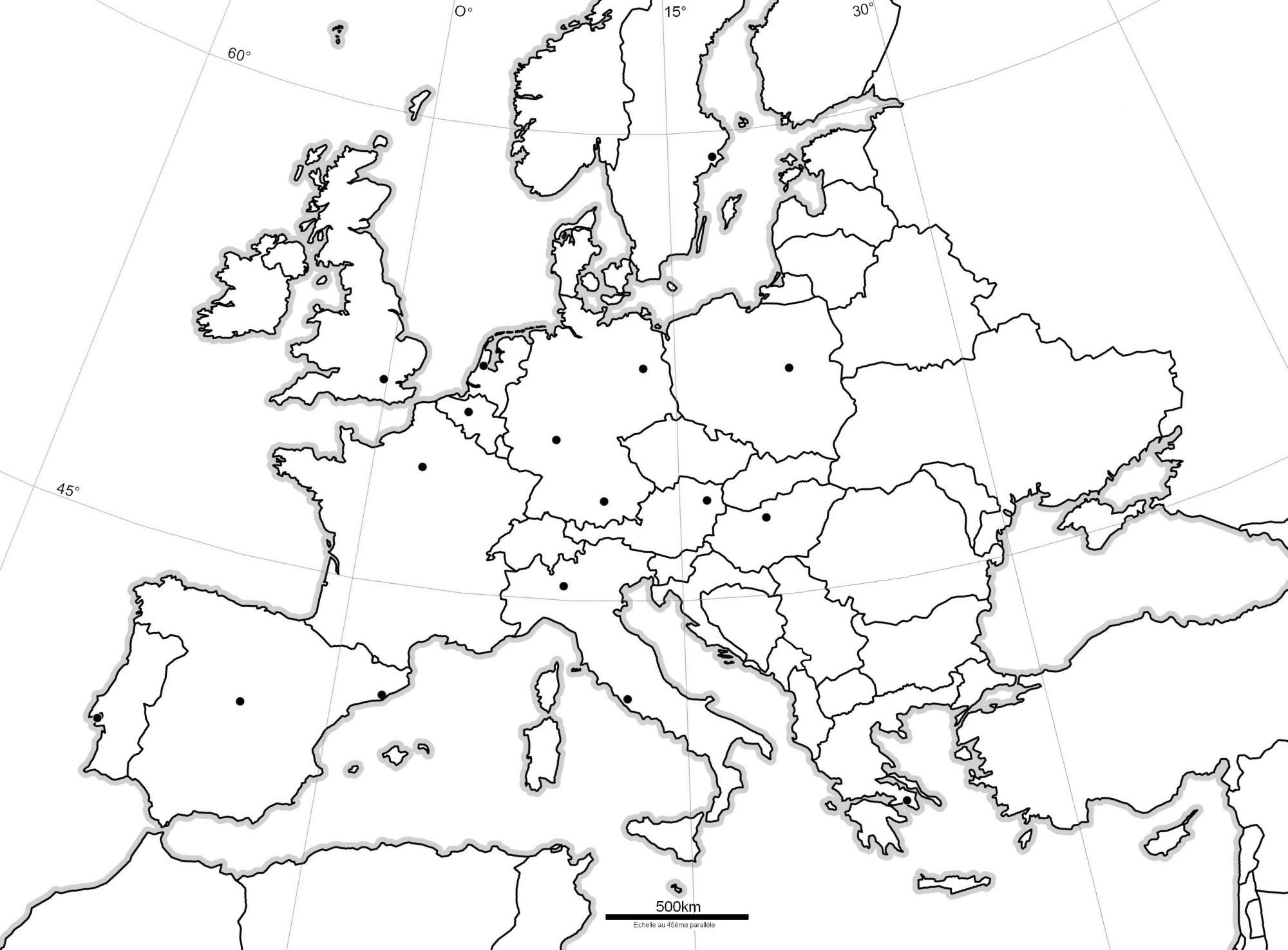 Espacoluzdiamantina: 25 Meilleur Carte De France Vierge Cm1 avec Carte Europe Vierge À Compléter En Ligne