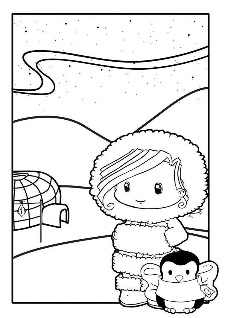 Esquimal | Dibujos, Actividades Escolares, Actividades avec Puzzle Gratuit Facile