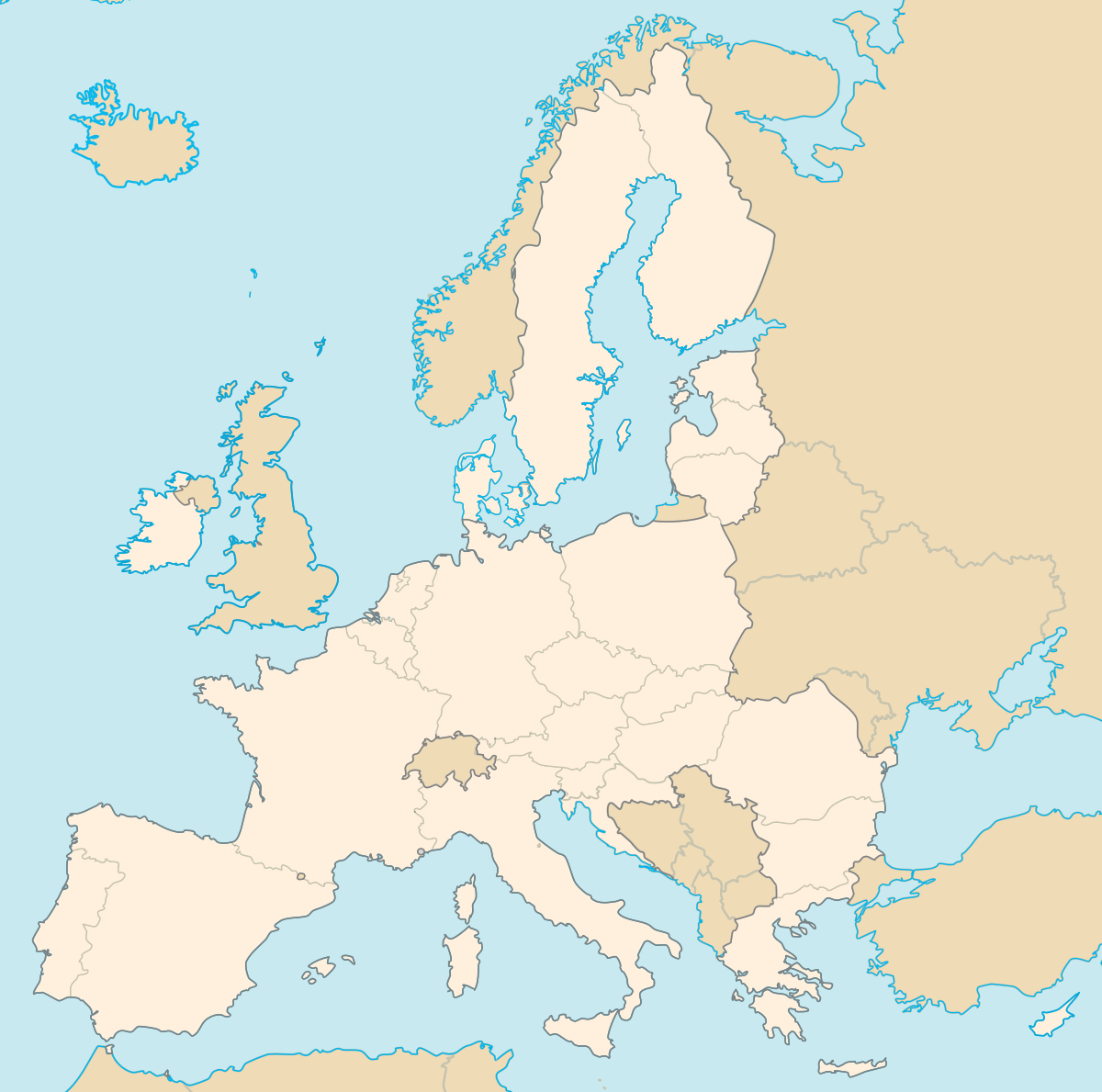 États Membres De L'union Européenne — Wikipédia avec Carte Pays D Europe
