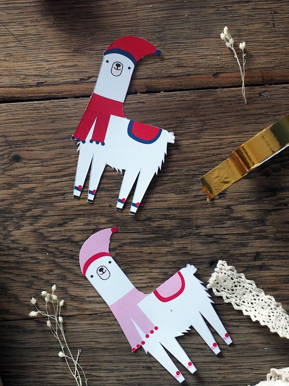 Etiquette Cadeaux Noel Diy Lama À Télécharger Et Imprimer avec Etiquette Cadeau Noel A Imprimer Gratuitement