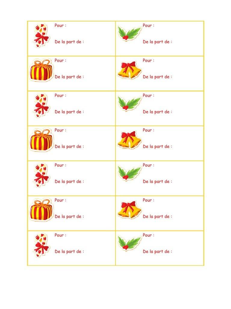 Etiquette De Noel À Imprimer Http://recettesbox.blogspot concernant Etiquette Noel A Imprimer