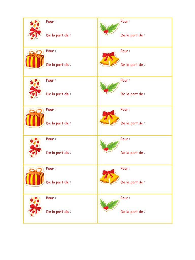 Etiquette De Noel À Imprimer Http://recettesbox.blogspot intérieur Etiquette Noel À Imprimer
