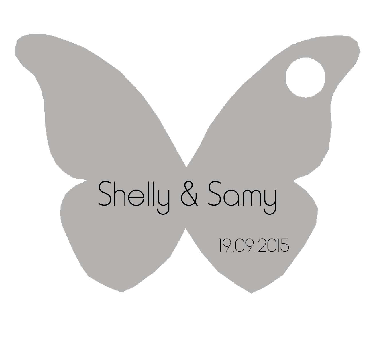 Étiquette Dragées Papillon Gris destiné Etiquette Papillon A Imprimer