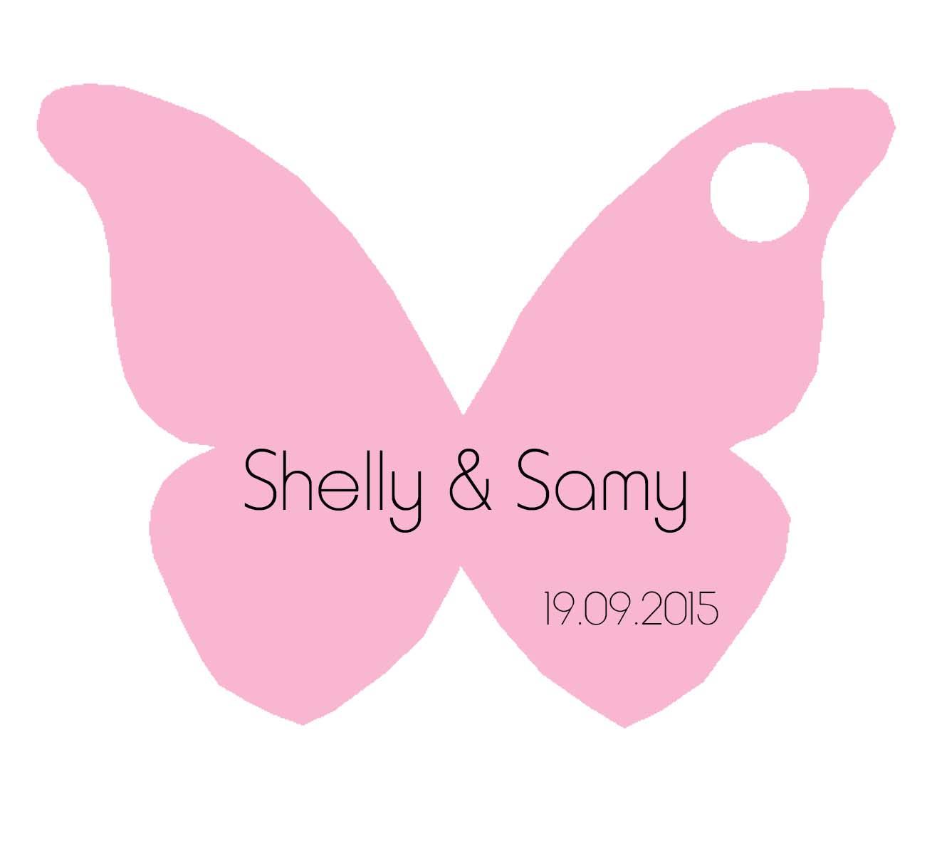 Étiquette Dragées Papillon Rose à Etiquette Papillon A Imprimer