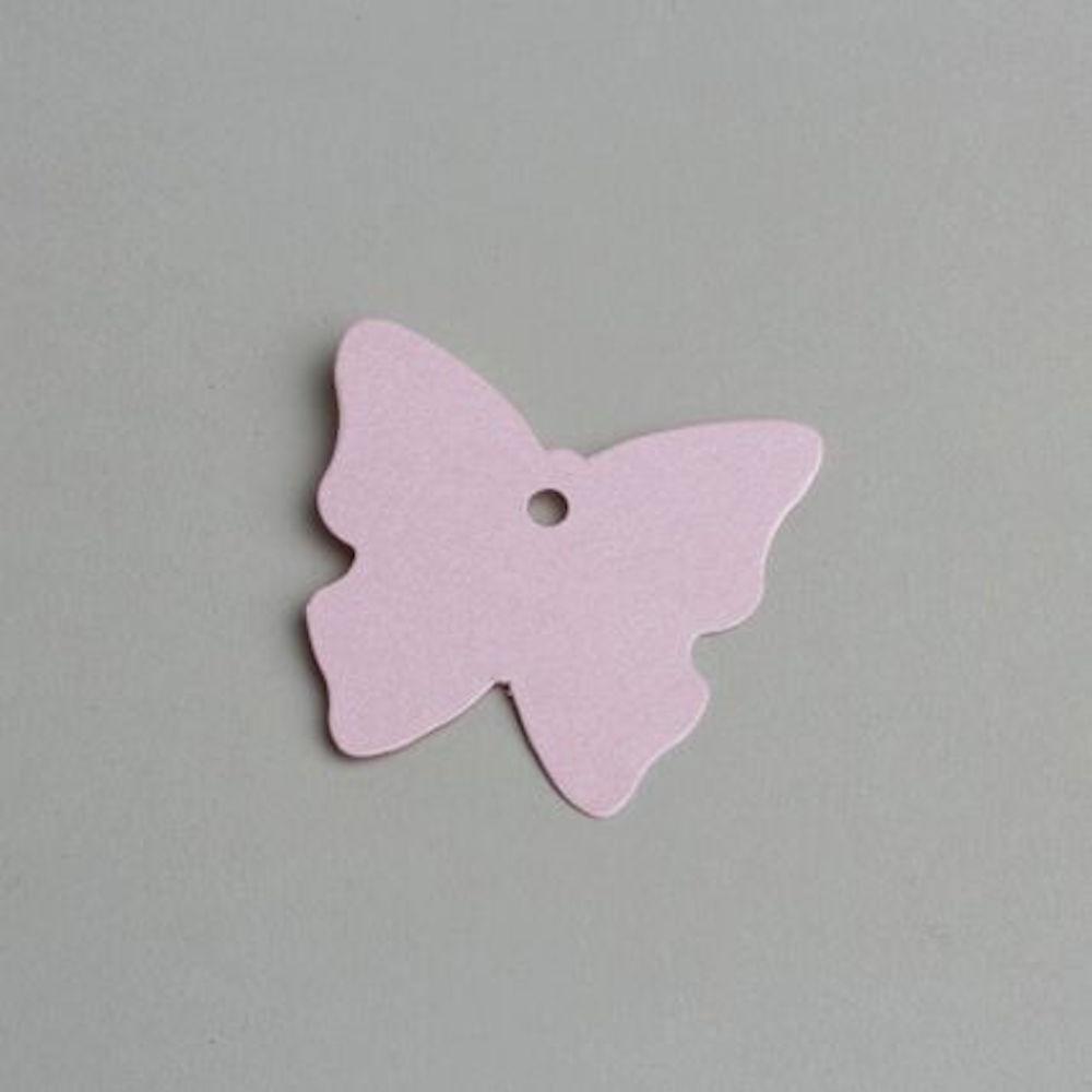 Etiquette Papillon Rose Nacré (X12) - Dragées & Chocolats De Limas concernant Etiquette Papillon A Imprimer