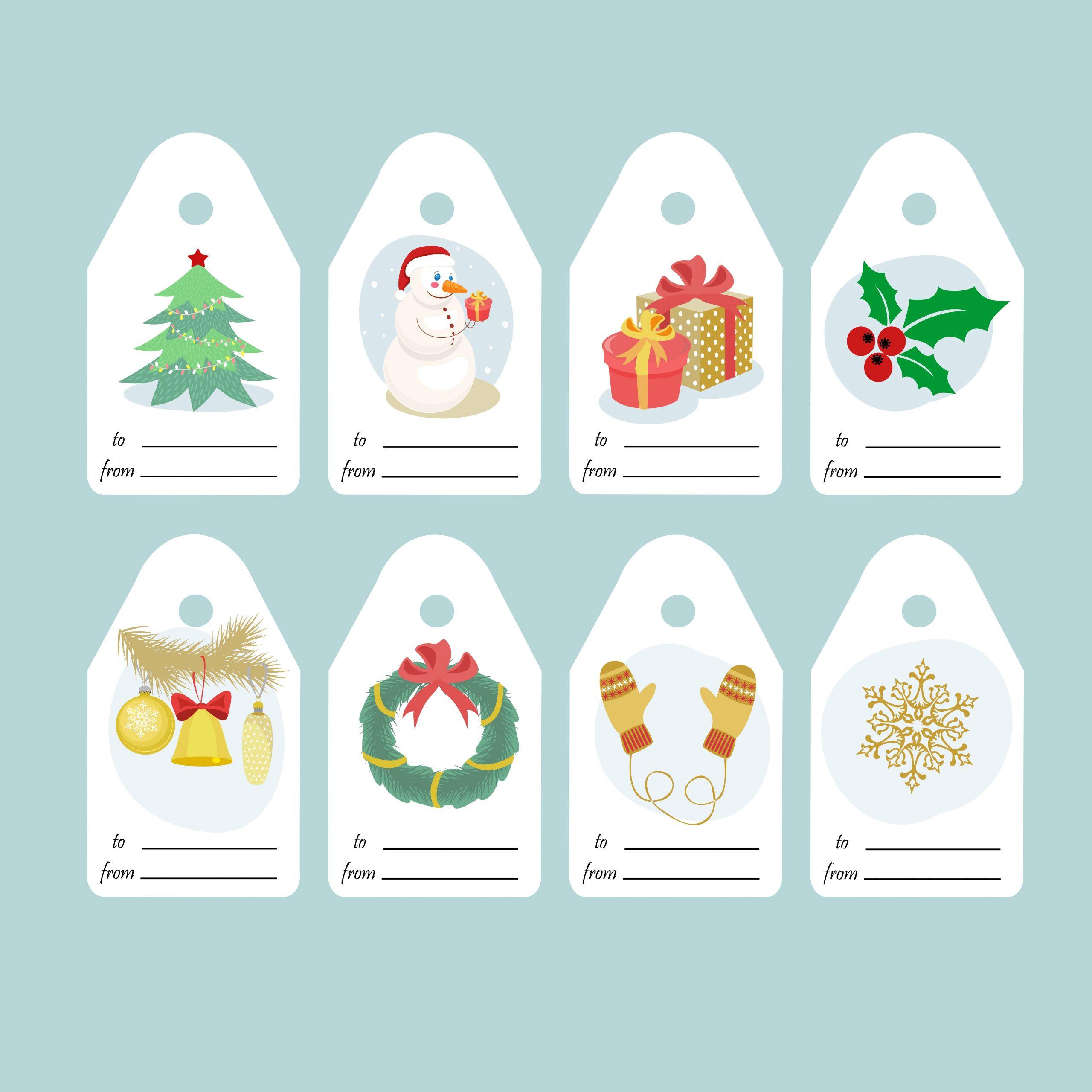 Etiquettes Cadeau De Noël À Imprimer - Un Max D'idées à Etiquette Cadeau Noel A Imprimer Gratuitement