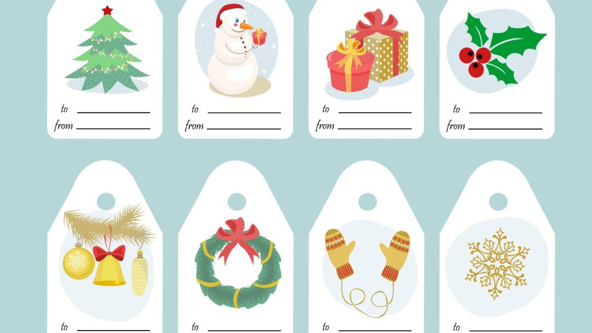 Etiquettes Cadeau De Noël À Imprimer - Un Max D'idées dedans Etiquette Noel À Imprimer