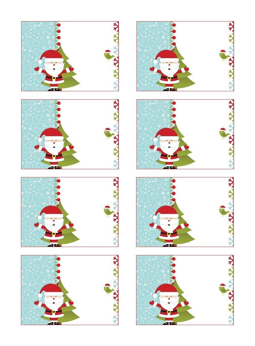 Etiquettes Cadeau De Noël Gratuites À Coller | Etiquettes avec Etiquette Noel À Imprimer