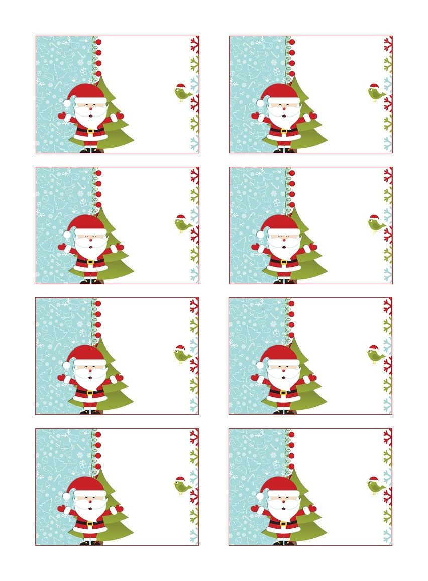 Etiquettes Cadeau De Noël Gratuites À Coller | Etiquettes tout Etiquette Cadeau Noel A Imprimer Gratuitement