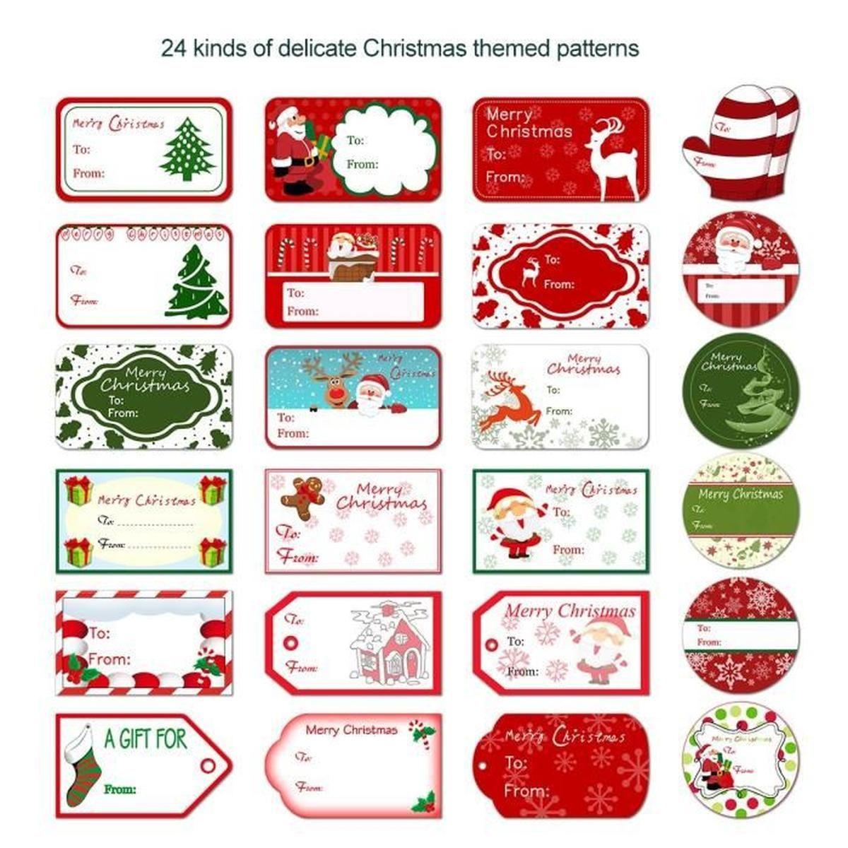 Etiquettes Cadeau Noel dedans Etiquette Pour Cadeau De Noel