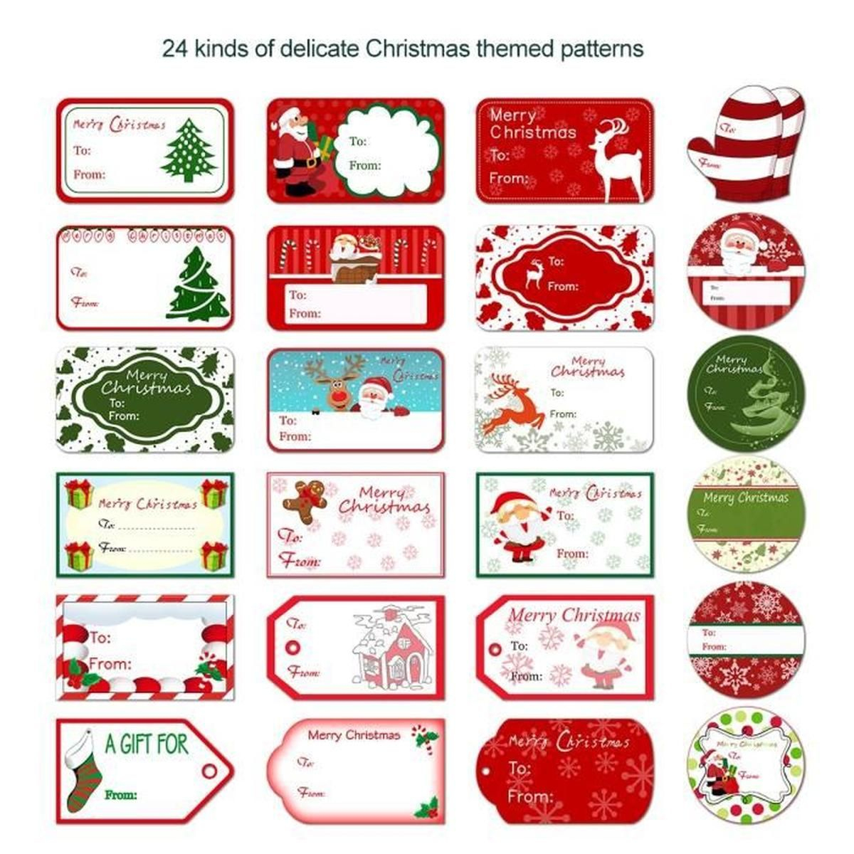 Etiquettes Cadeau Noel destiné Etiquette Noel À Imprimer