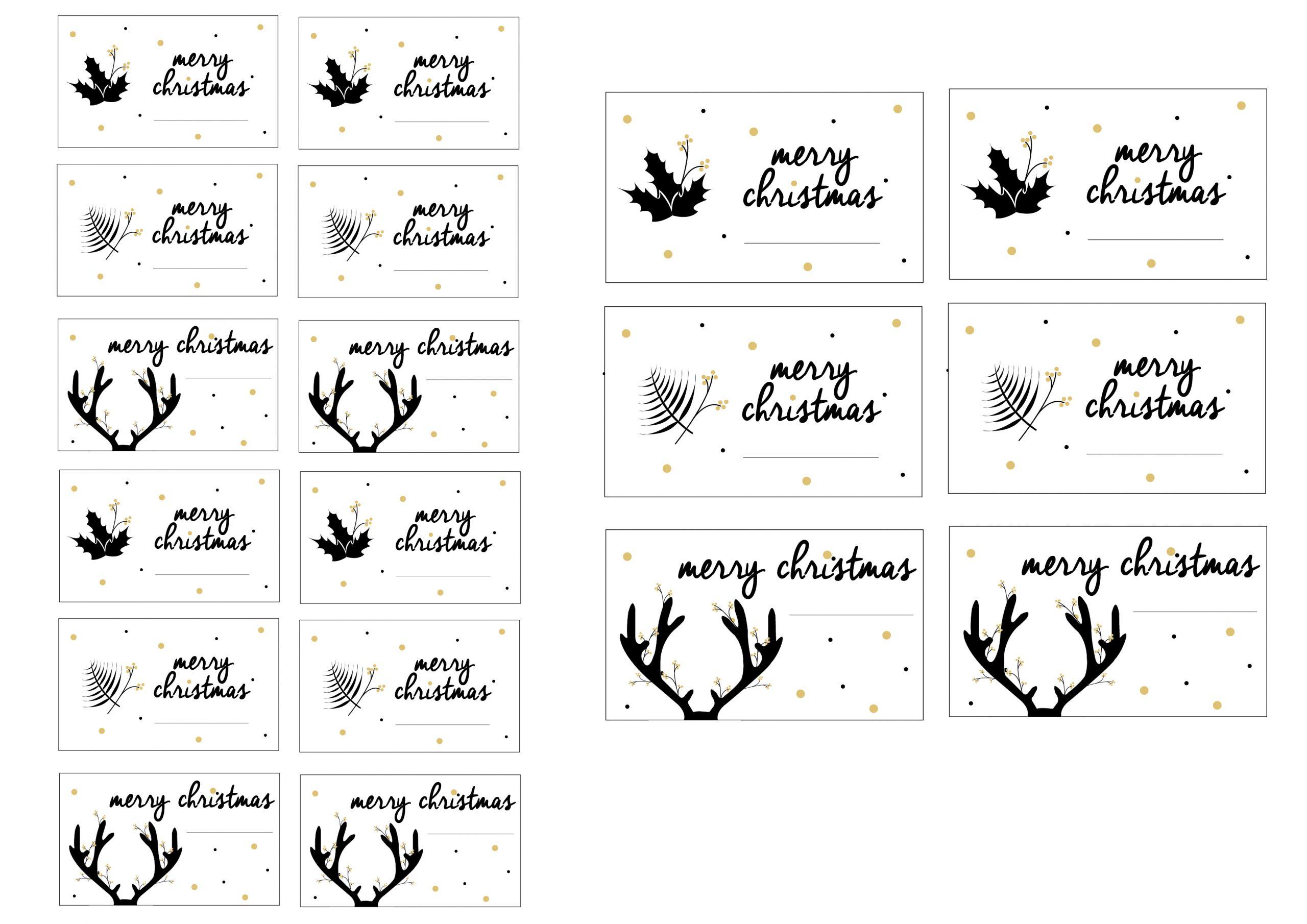 Etiquettes Cadeaux À Telecharger – La Loutre Scandinave tout Etiquette Cadeau Noel A Imprimer Gratuitement