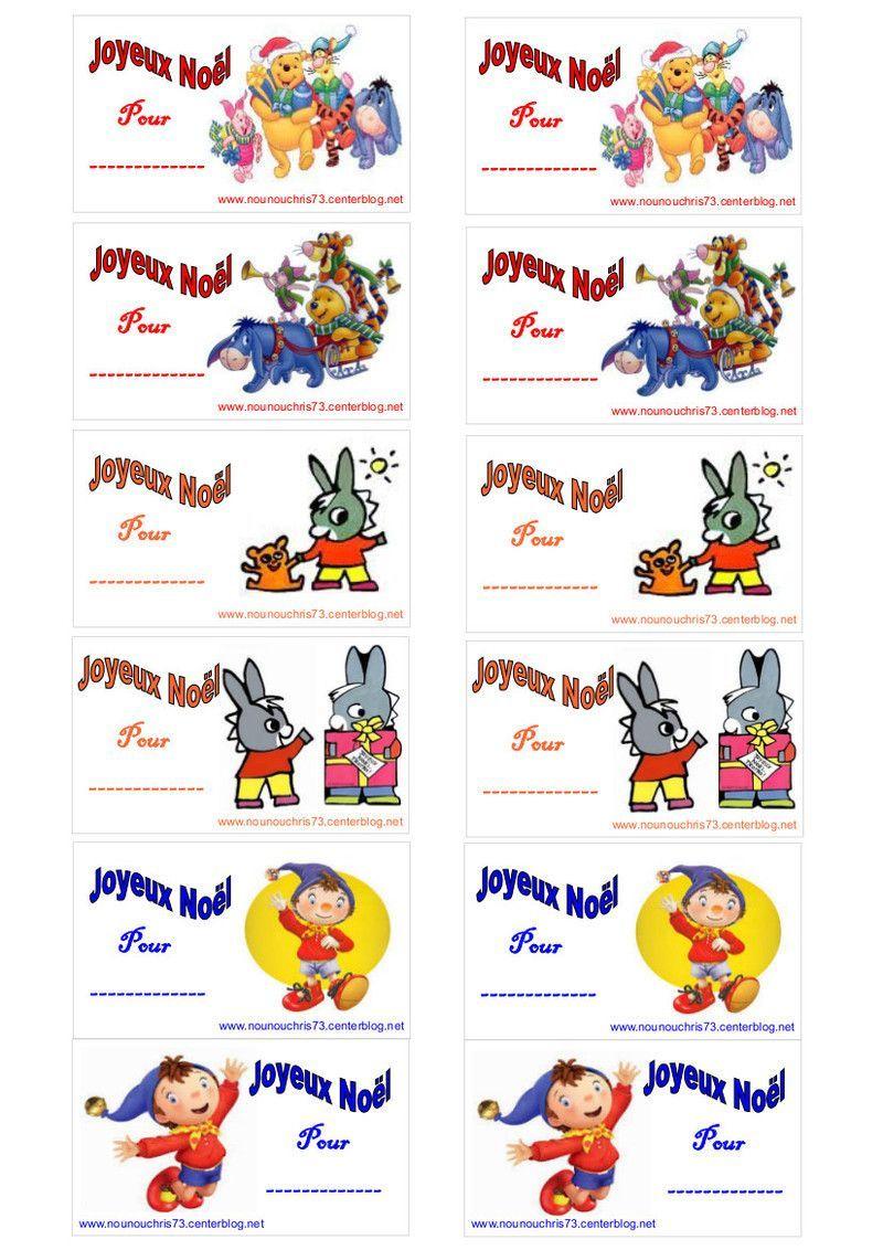 """Etiquettes Cadeaux De Noël """"pour Les Plus Jeunes"""" À Imprimer pour Etiquette Noel À Imprimer"""