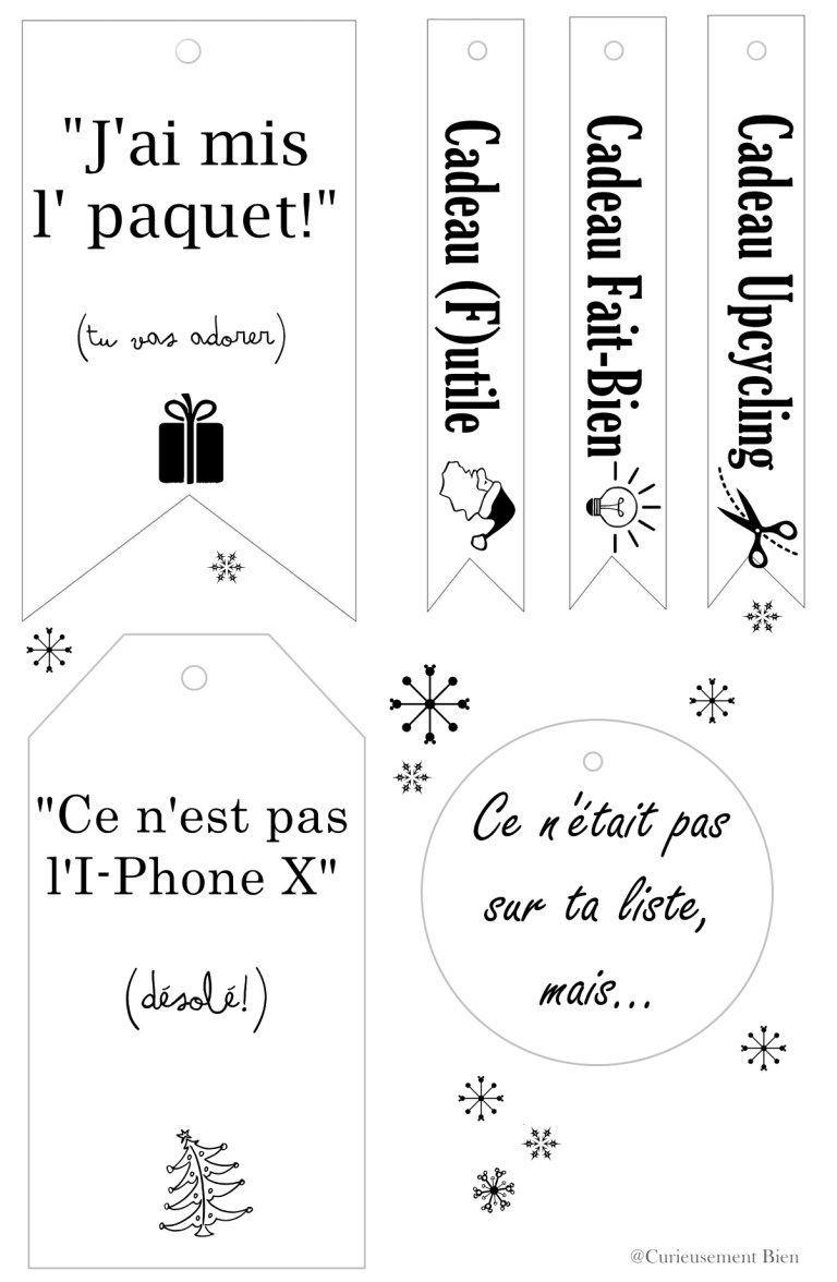 Étiquettes Cadeaux De Noël Pour Personnaliser Vos Paquets tout Etiquette Noel À Imprimer