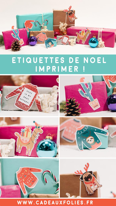 Étiquettes Cadeaux Originales Pour Noël ** Free Printable ** intérieur Etiquette Cadeau Noel A Imprimer Gratuitement