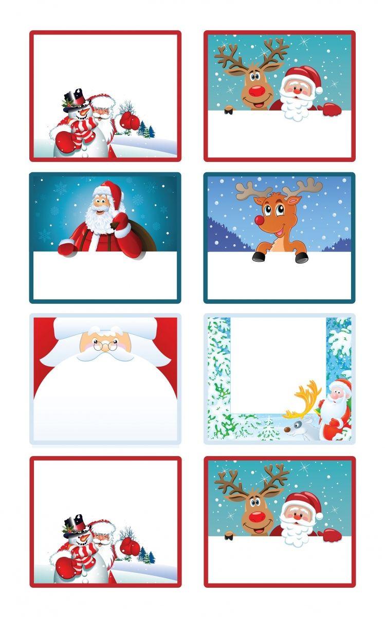 Étiquettes De Noël À Imprimer Pour Les Cadeaux À Offrir destiné Etiquette Noel À Imprimer