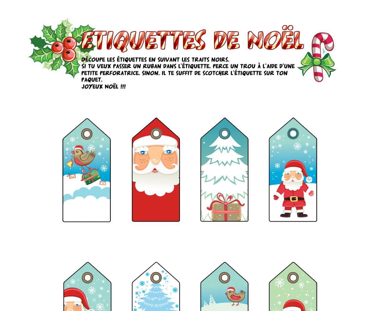 Étiquettes De Noël Tradition encequiconcerne Etiquette Noel À Imprimer