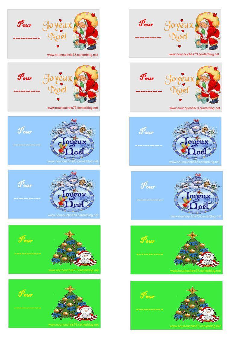 """Etiquettes """"joyeux Nöel"""" À Imprimer Pour Les Cadeaux avec Etiquette Noel A Imprimer"""