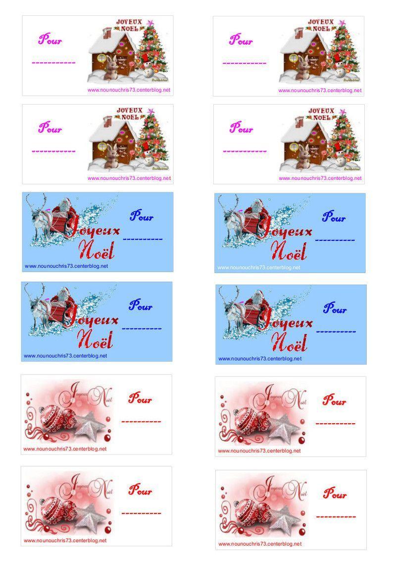 """Etiquettes """"joyeux Nöel"""" À Imprimer Pour Les Cadeaux intérieur Etiquette Cadeau Noel A Imprimer Gratuitement"""