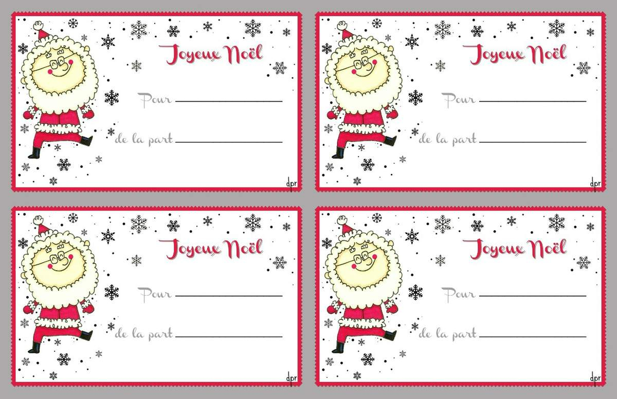 Etiquettes Noël À Imprimer Pour Étiqueter Nos Cadeaux intérieur Etiquette Cadeau Noel A Imprimer Gratuitement