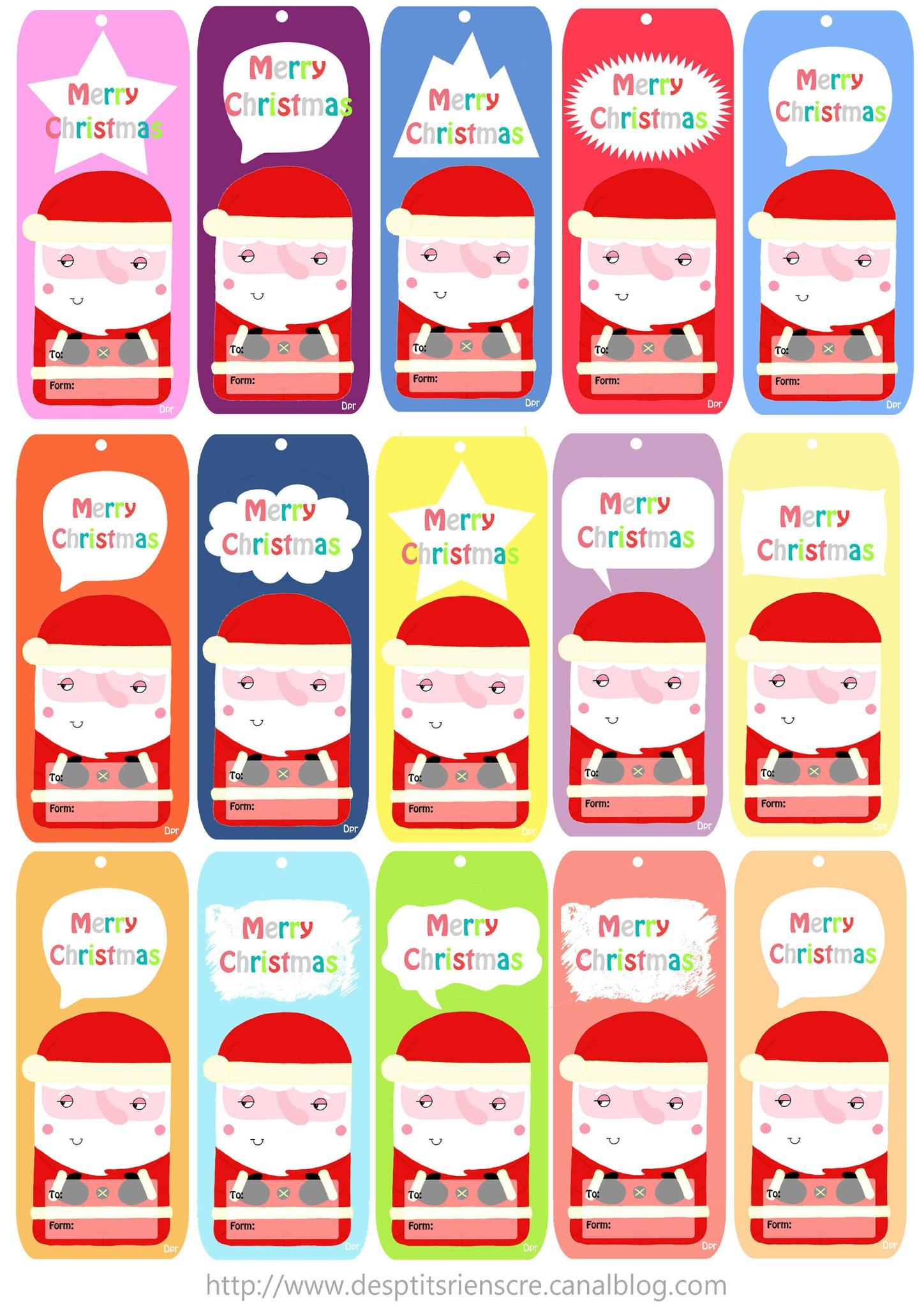 """Etiquettes """"père Noël"""" (À Imprimer) - Des P'tits Riens tout Etiquette Noel A Imprimer"""