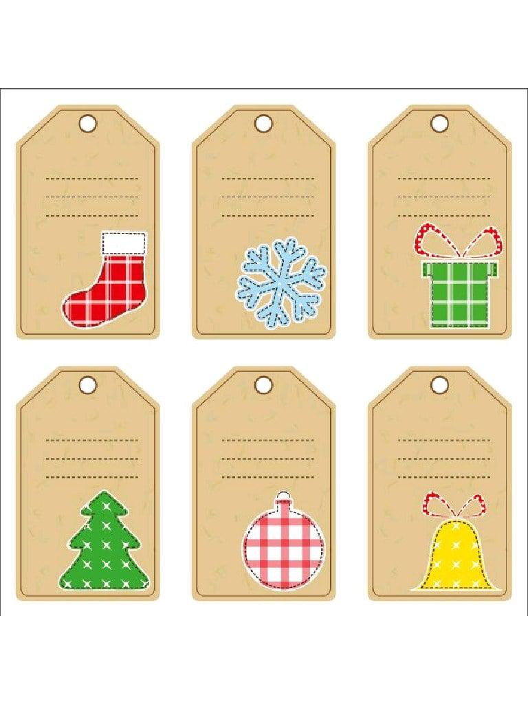 Etiquettes Pour Cadeaux De No→L (Ii) Par Convertirpdf à Etiquette Pour Cadeau De Noel