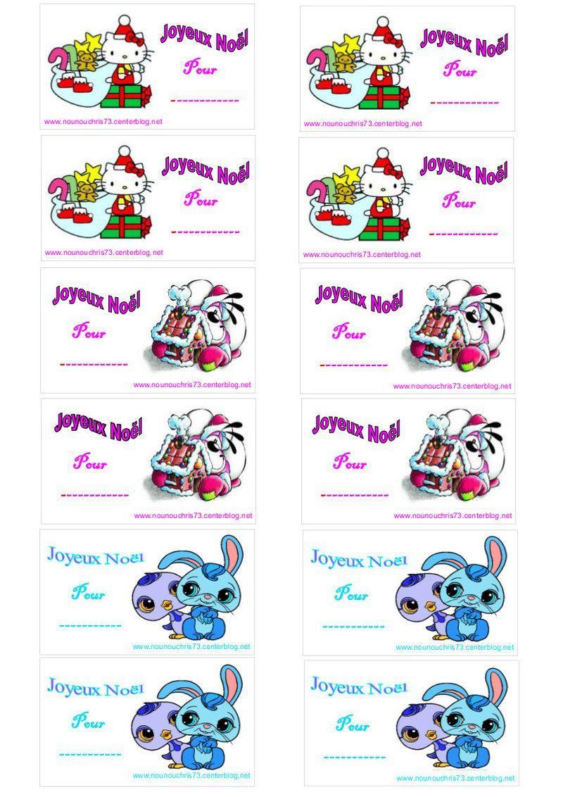 """Etiquettes Pour Cadeaux De Noël """"filles"""" À Imprimer à Etiquette Cadeau Noel A Imprimer Gratuitement"""