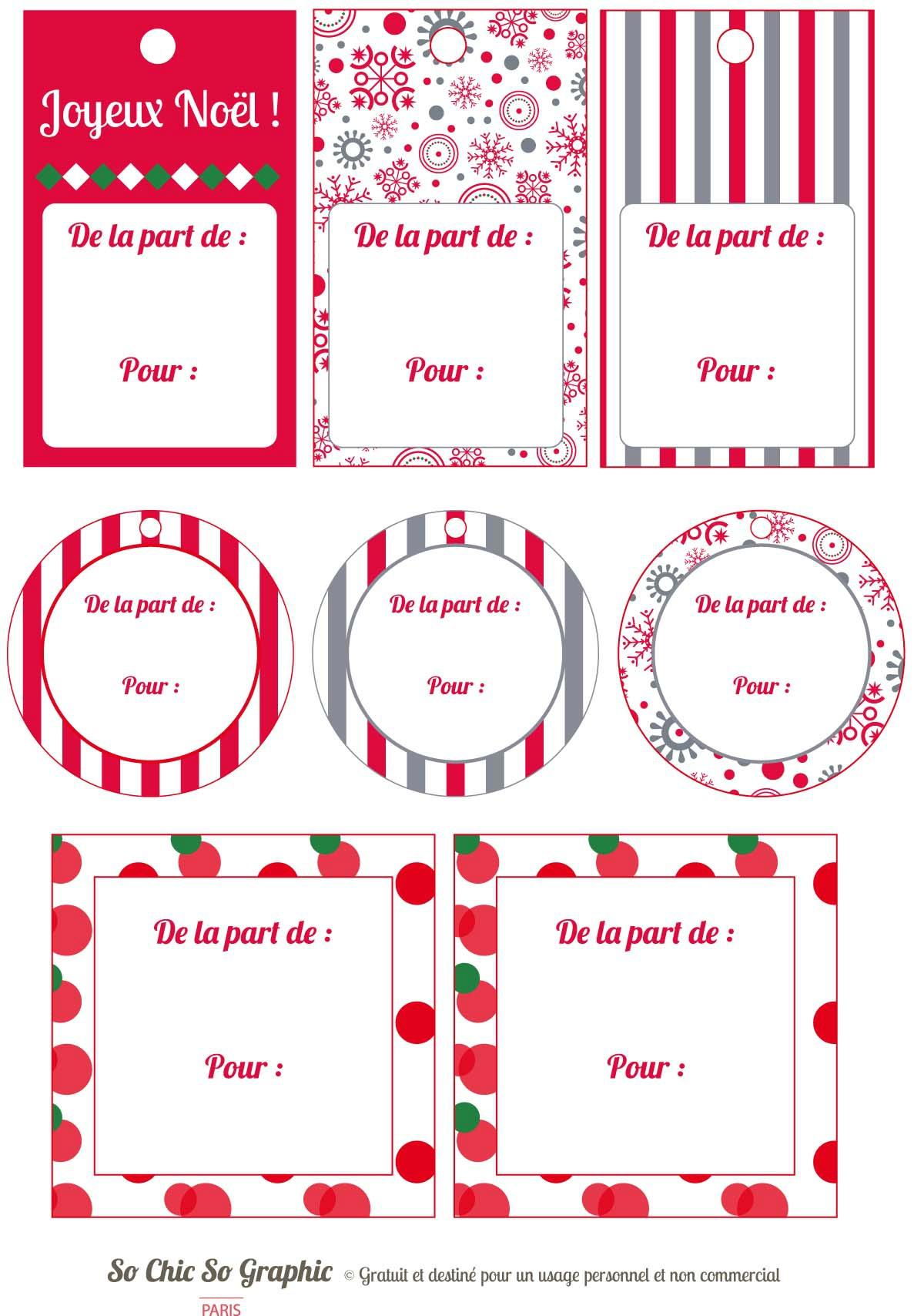 Étiquettes Pour Cadeaux De Noël - Journal D'une Fouineuse encequiconcerne Etiquette Pour Cadeau De Noel