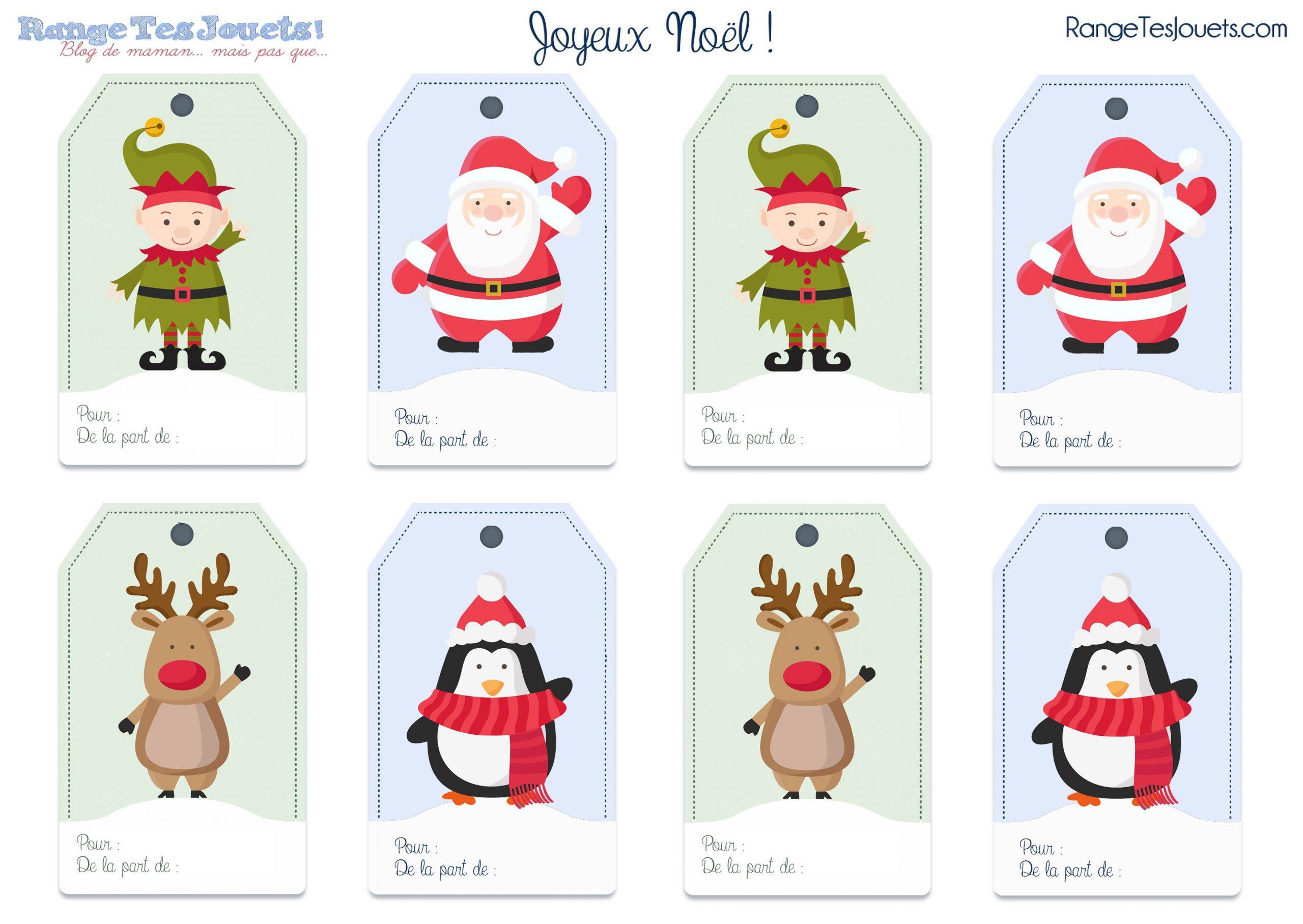 Étiquettes Pour Petits Paquets Cadeaux… [Printable avec Etiquette Pour Cadeau De Noel
