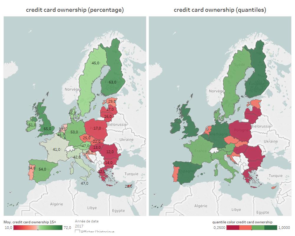 Etude De Marché : La Possession De Cartes De Crédit En Europe avec Carte Union Européenne 2017