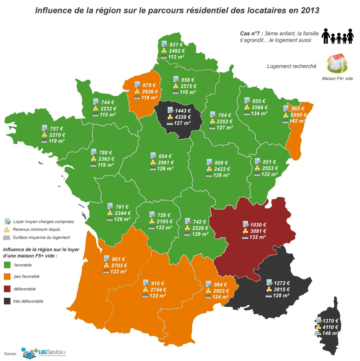 Etude De Profils-Types De Locataires : Cas N°7, Une Famille tout Carte De France Pour Enfant