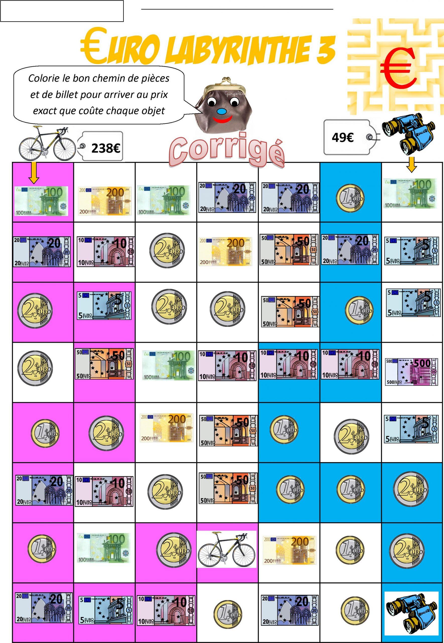 Euro Ce2 | Le Blog De Monsieur Mathieu pour Billets Et Pièces En Euros À Imprimer