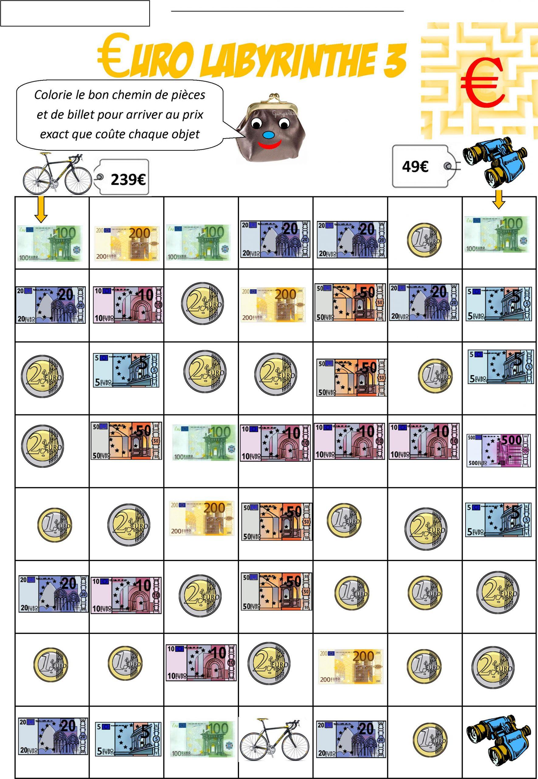 Euro Ce2 | Le Blog De Monsieur Mathieu serapportantà Pièces Et Billets En Euros À Imprimer